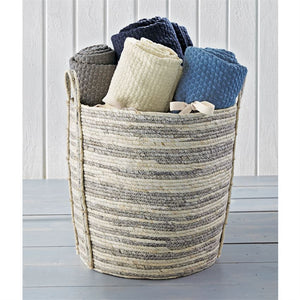 Mud Pie* Year-Round Favorite Cotton Tassel Throw Blanket, Grey