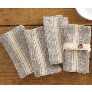 Mud Pie* Farmhouse Cloth Napkin Set of 4