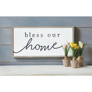 Mud Pie* Bless Our Home Wood Sign