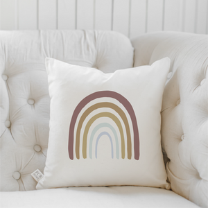 "Traditional Rainbow 16"" Pillow, Natural"