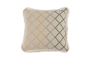 TRELLIS EMBROIDERY PILLOW, IVORY