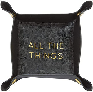 Mud Pie* Sentiment Snap Catch-All Tray, Black