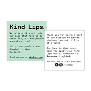Kind Lips Organic Lip Balm, First Kiss