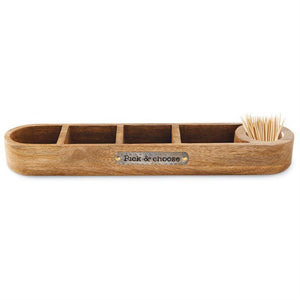 MUD PIE: Pick & Choose Divided Toothpick Tray