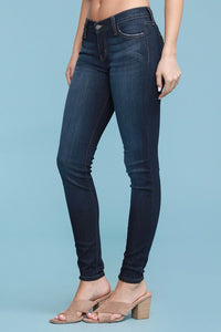 (Curvy) JUDY BLUE Classic Non-Distressed Skinny Jeans, Dark Wash