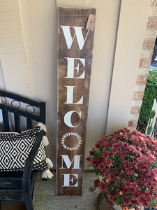 LBBW Handmade RUSTIC WELCOME Wood Sign