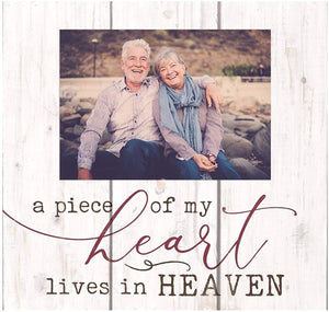 A Piece Of My Heart Lives In Heaven Photo Frame Box