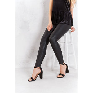 Mud Pie* Faux Leather Leggings, Black