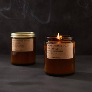 Amber Glass 7.2 oz. Soy Candle, Smoky Cinnamon Special