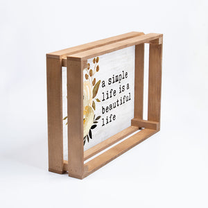Simple Life Wooden Tray Wall Art