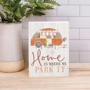 Home is Where We Park It Wooden Box Art