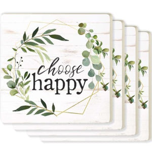 Choose Happy Individual Coaster
