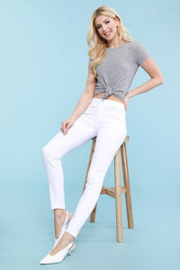 Judy Blue Mid Rise Skinny Jeans, White
