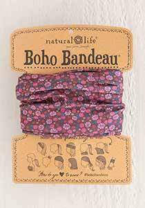 Natural Life* Red Floral Boho Bandeau