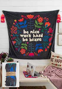 Natural Life* Be Kind Tapestry Blanket