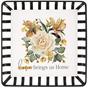 Love Brings Us Home Basket Weave Framed Art