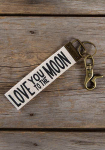 "Natural Life* ""Love you to the Moon...Canvas Key Fob"