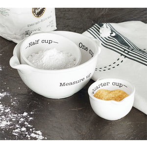 Mud Pie* 3pc Measuring Cup Set