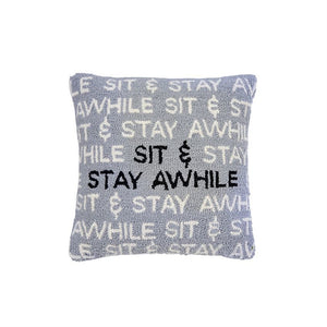 Mud Pie* Sit & Stay Hooked Pillow