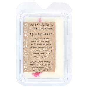1803 Candles: Spring Rain Soy Melter
