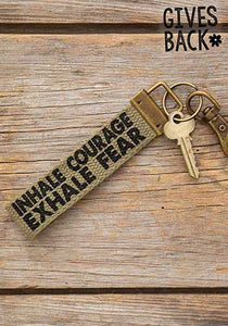 Natural Life* Inhale Courage Canvas Key Fob