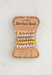 Natural Life* Set of 5 Barcelona Bands, Iridescent Gold