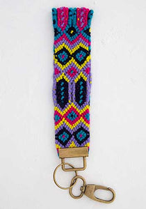 Natural Life* Sayulita Key Fob, Purple/Turq