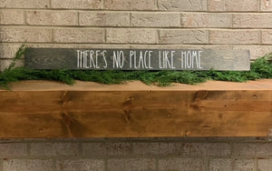 LBBW Handmade NO PLACE LIKE HOME Wood Sign