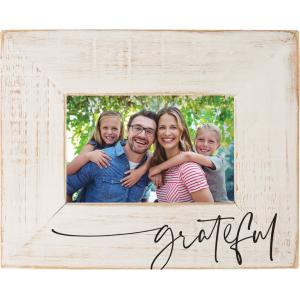 Grateful Distressed Wood Frame, Off White