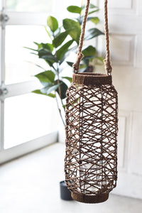 Lighted Path Woven Hanging Lantern