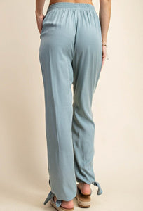 Tie Bottom Pants, Sage