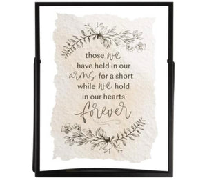 Those We Have Held 8x10 Handmade Paper Metal Stand Framed Art