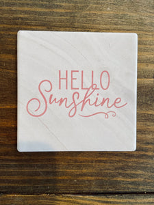 Hello Sunshine Individual Coaster