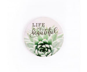 Life Is Beautiful Car Coaster Single Pack