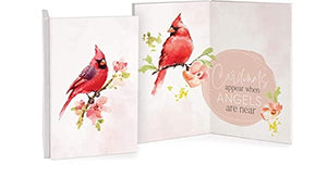 Cardinals Appear When Angels Are Near Wooden Keepsake Card