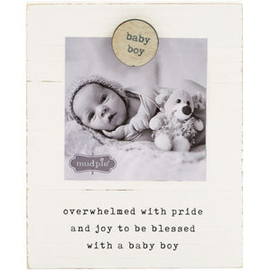 Mud Pie* BABY BOY Magnetic Wood Picture Frame