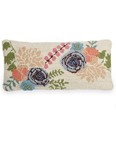 MUD PIE: Floral Hook Wool Pillow (Square or Long)