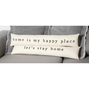 Mud Pie* Home Is My Happy Place Long Skinny Pillow