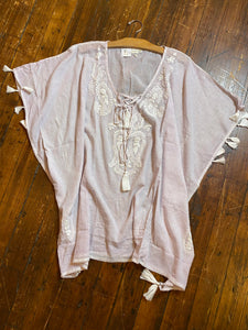 Hope Embroidered Boho Coverup, Lavender