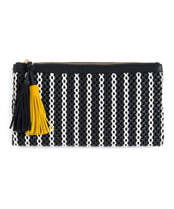 Bimba Clutch, Black/White