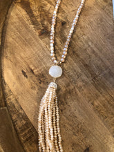 Load image into Gallery viewer, Myra's Sweet Beige Tassel Necklace