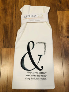 Cleerely Stated Kitchen Towel