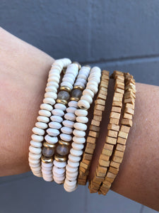 Multi-Wood beaded Bracelet Set