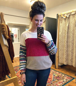 Cheers To You Colorblock Sweater