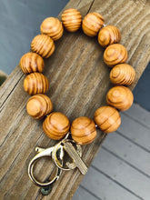 Load image into Gallery viewer, Wooden Beaded Key Chain