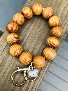 Wooden Beaded Key Chain
