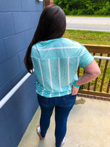 Savannah Mint Striped Top