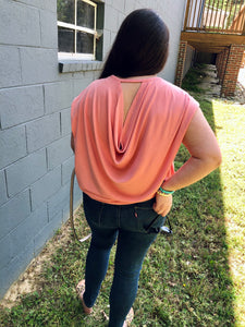 Draped in Love Coral Blush Top