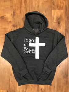Logo Of Love Dark Grey Hoodie