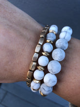 Load image into Gallery viewer, Stone & Metal Beaded Bracelet Set